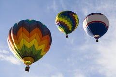 10 varma serie för luftballong Arkivfoton