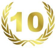 10 verjaardag stock illustratie
