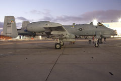 A-10 Warthog. SAN DIEGO, CA - OCTOBER 3: A U.S. A-10 Thunderbolt II Warthog on display at the MCAS Miramar airshow, in San Diego, CA on October 3, 2009 Royalty Free Stock Images