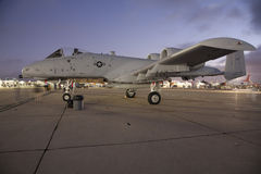 A-10 Warthog. SAN DIEGO, CA - OCTOBER 3: A U.S. A-10 Thunderbolt II Warthog on display at the MCAS Miramar airshow, in San Diego, CA on October 3, 2009 Royalty Free Stock Photography