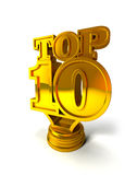10 wierzchołek Obrazy Stock