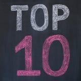 10 wierzchołek Zdjęcie Stock