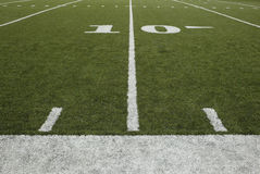 10-yard-line. Of a football field royalty free stock photography