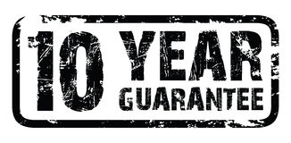 10 year guarantee stamp. A 10 year guarantee stamp royalty free illustration