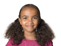 10 year old Latino girl. Portrait of a 10 year old Latino girl Royalty Free Stock Photography