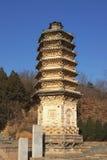 10 yinshan pagodas Arkivfoto