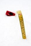 10 Zentimeter Schnee Stockbild