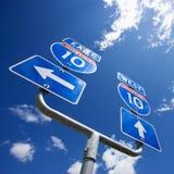 10 znak autostrady obrazy stock