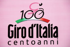 100° giro d Italië - het embleem Royalty-vrije Stock Afbeeldingen