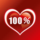 100%. This graphic is 100 percent heart Royalty Free Stock Images