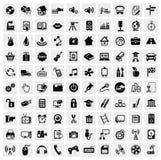 100个万维网图标 库存图片