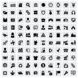 100个万维网图标 免版税库存照片