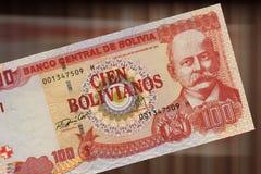 100个玻利维亚旧货币单位 免版税库存图片