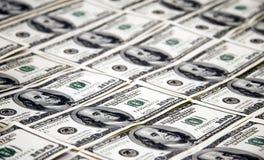 100个票据美元货币 图库摄影