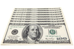 100个票据美元 免版税图库摄影