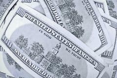 100个票据美元 免版税库存图片