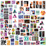 100个艺术当代设计 免版税库存图片