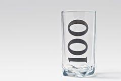 100块玻璃 免版税库存照片