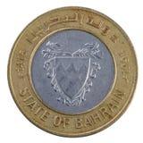 100巴林硬币fils 免版税库存照片