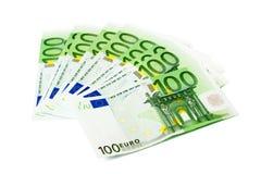 100张钞票欧元 免版税库存图片