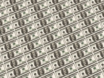 100张钞票美元 免版税库存照片