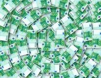 100抽象背景欧元 免版税库存图片