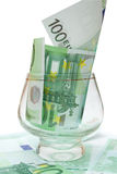 100欧元一 免版税图库摄影