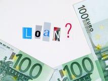 100欧元贷款 免版税库存照片