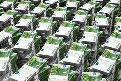 100欧元货币栈 免版税库存照片