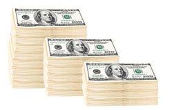 100美元货币卷 库存照片