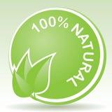 100自然百分比 免版税库存照片