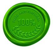 100自然纯密封蜡 免版税库存照片