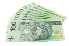 100货币波兰 库存图片