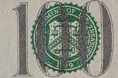 100钞票接近  免版税库存图片