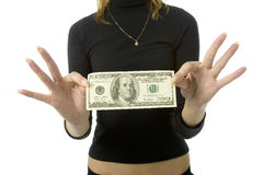 100银行美元附注 免版税图库摄影
