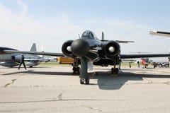 100锎喷气式歼击机涡轮 库存图片