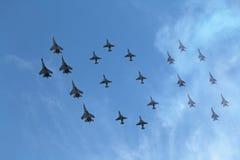 100 år av flygvapen av Ryssland Fotografering för Bildbyråer
