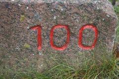 100 αριθμός Στοκ Εικόνα