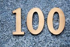100 αριθμός Στοκ φωτογραφία με δικαίωμα ελεύθερης χρήσης