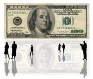 100 δολάρια ΗΠΑ τραπεζογρα& Στοκ Φωτογραφία