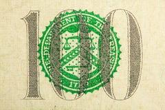 100 δολάρια Στοκ φωτογραφία με δικαίωμα ελεύθερης χρήσης