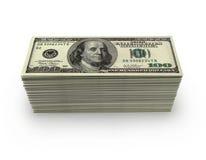 100 δολάρια wad Στοκ Φωτογραφία