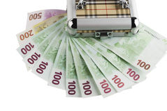 100 ευρο- τραπεζογραμμάτια Στοκ Φωτογραφία