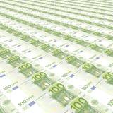 100 ευρώ ανασκόπησης Στοκ Φωτογραφίες
