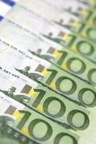 100 ευρώ λογαριασμών Στοκ φωτογραφίες με δικαίωμα ελεύθερης χρήσης