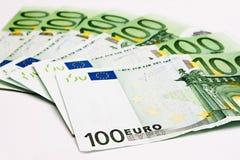 100 ευρώ που τίθεται Στοκ φωτογραφία με δικαίωμα ελεύθερης χρήσης