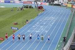100 μέτρα τρεξίματος Στοκ Φωτογραφία