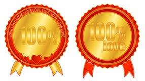 100 τοις εκατό της αγάπης Στοκ Εικόνες