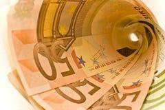 100 χρήματα που κυλιούνται 50 Στοκ Εικόνα
