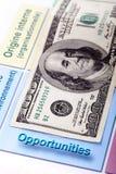 100 анализов счета и swot доллара Стоковые Изображения RF